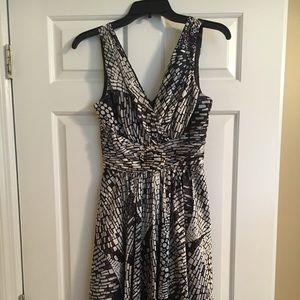 Silky White House Black Market dress